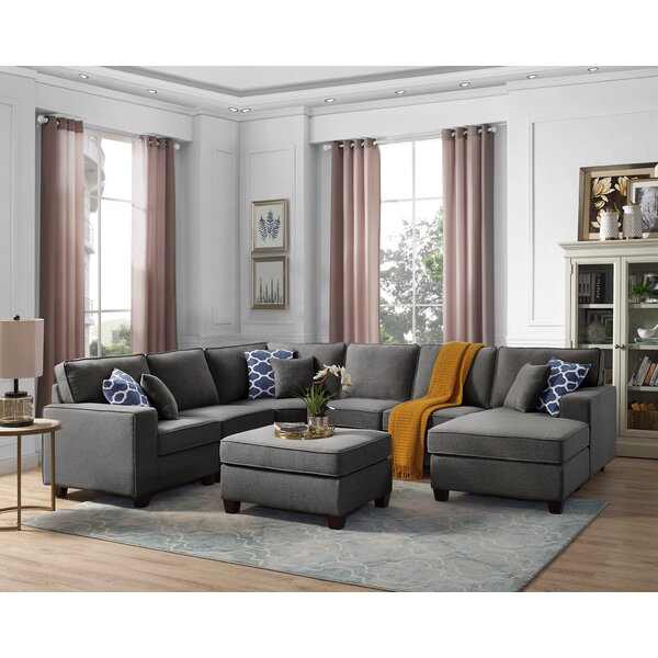 Sectional With Large Ottoman | Wayfa