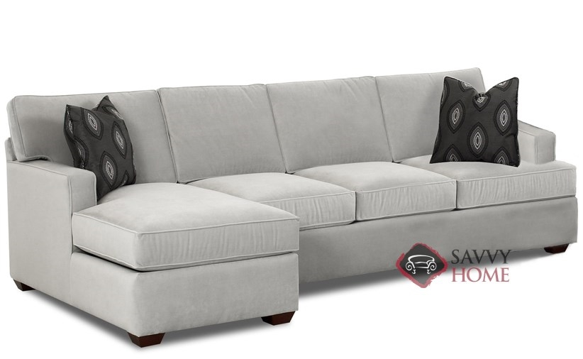 Lincoln Fabric Sleeper Sofas Chaise Sectional by Savvy is Fully .