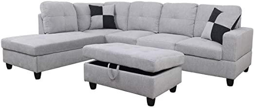 Amazon.com: Sectional Sofa Sectional Couch with Chaise Ottoman .