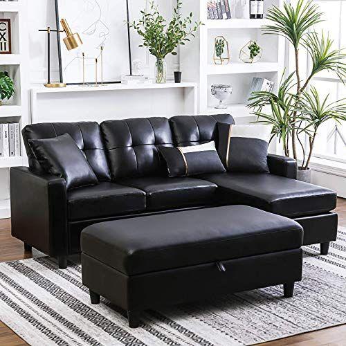 New HONBAY Convertible Sectional Sofa Ottoman L Shape Sleeper Sofa .