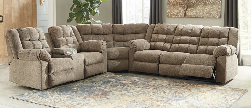 Ashley Furniture 58401-88-77-94 3 pc Workhorse cocoa fabric .