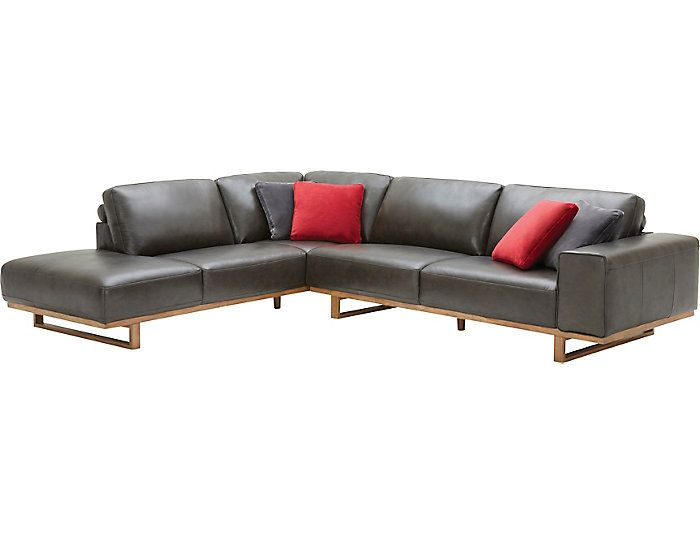 Treviso 2 Piece Left-Arm Facing Chaise Leather Sectional | Art Van .