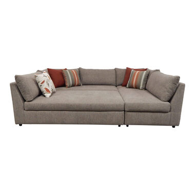 Rent to Own Woodhaven 3-Piece Puzzle Chaise Sectional Sofa at .