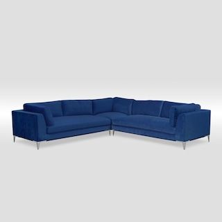 Aaron 3-Piece Sectional - Indigo | Living room sectional .