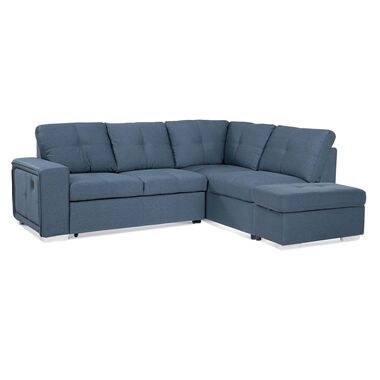 Rent to Own Amalfi 3-Piece Bellini Sectional Chaise Sleeper Sofa .