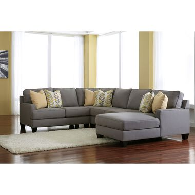 Rent to Own Sectional Sofas and Couches in Alloy by Ashley | Aaro