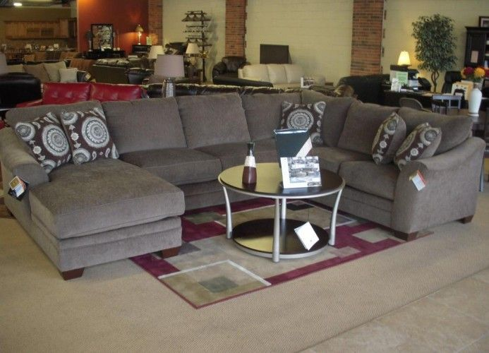 HUGE U-SHAPE SECTIONAL/SOFA w/CHAISE by ASHLEY - BRAND NEW .