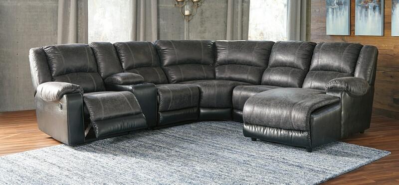 Ashley Furniture 50301-17-77-46-57-46-40 6 pc Nantahala slate .
