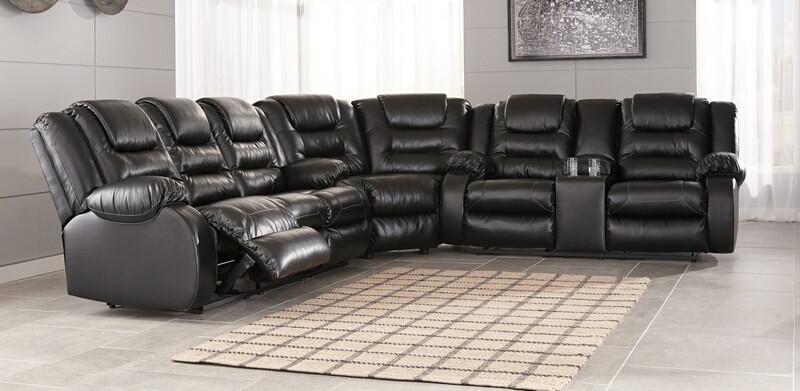 Ashley Furniture 79308-88-77-94 3 pc Vacherie black faux leather .