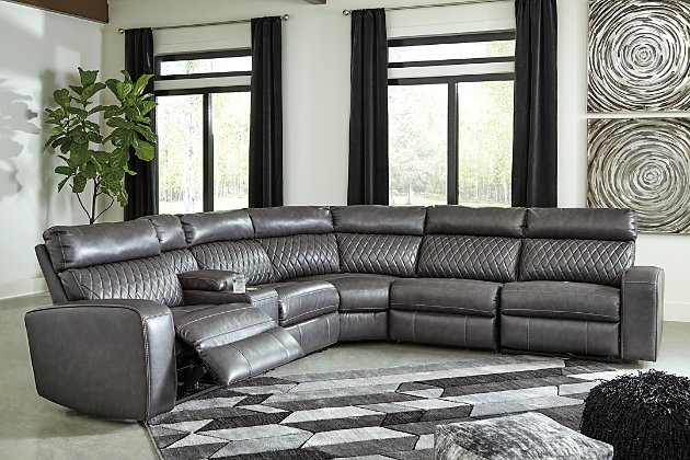 Samperstone 6-Piece Power Reclining Sectional | Ashley Furniture .