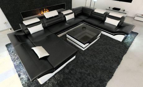 Leather Sectional Sofa Atlanta XL in 2020 | Modern leather sofa .