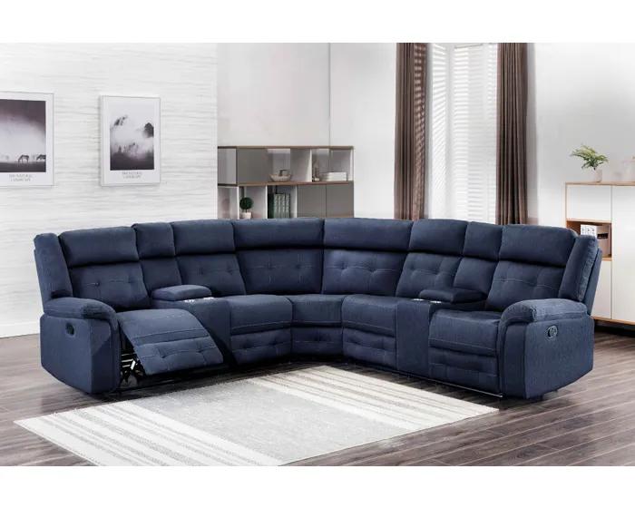 Sectional | Amalfi Home Furniture Cobalt | Lastman's Bad Boy .