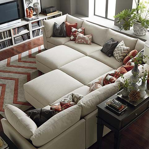 Pit Sectional from Bassett - loving the configurations of the .