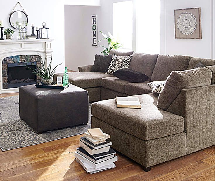 Lane Home Solutions Passage Mocha Living Room Sectional - Big Lots .