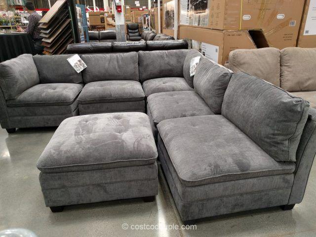 6-Piece Modular Fabric Sectional Costco | Modular sectional sofa .