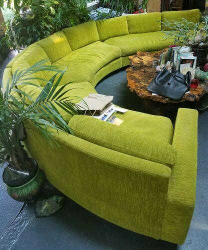 RARE Milo Baughman ? Couch Sectional Sofa Mid Century Modern MCM .