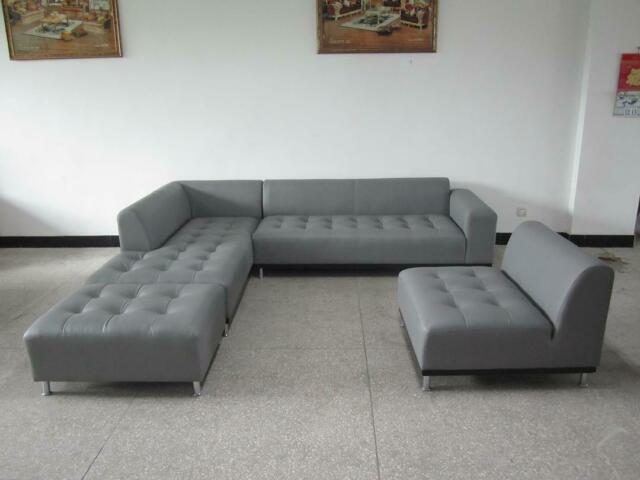 Quebec Modern Gray Eco Leather Sectional Sofa for sale online | eB