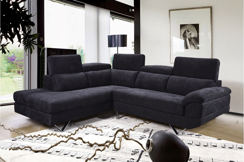 Bronte Sectional Sofa *Black-iFurniture-The largest furniture .