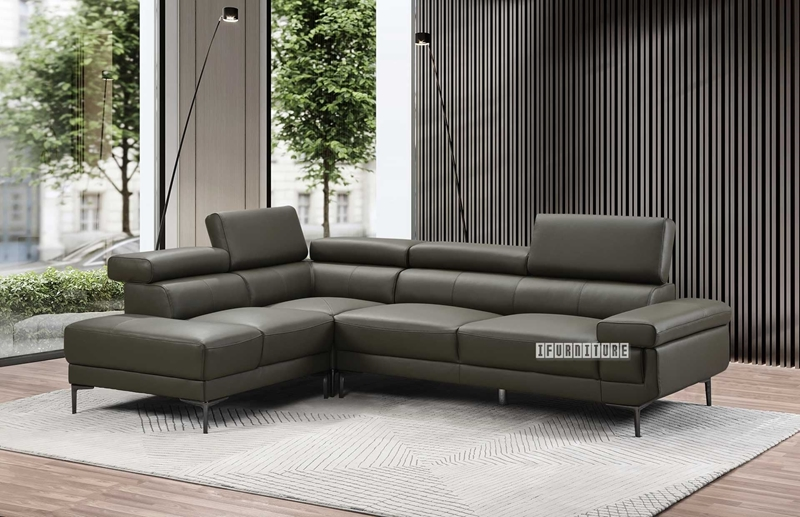 CLAUDIA SECTIONAL SOFA *GENUINE LEATHER-iFurniture-The largest .