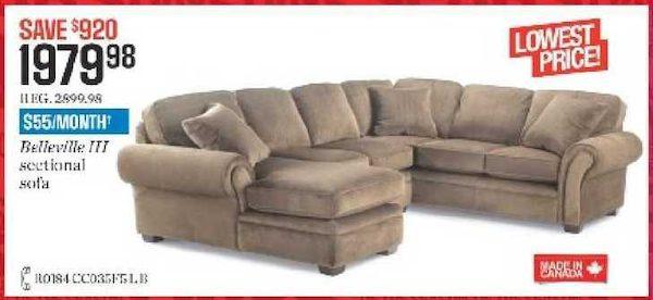 Sears: Belleville Iii Sectional Sofa - $1979.98 - RedFlagDeals.c