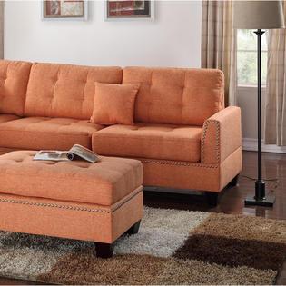 Esofastore 3pc. Modern Polyfiber Sectional Sofa Set - Sears Marketpl