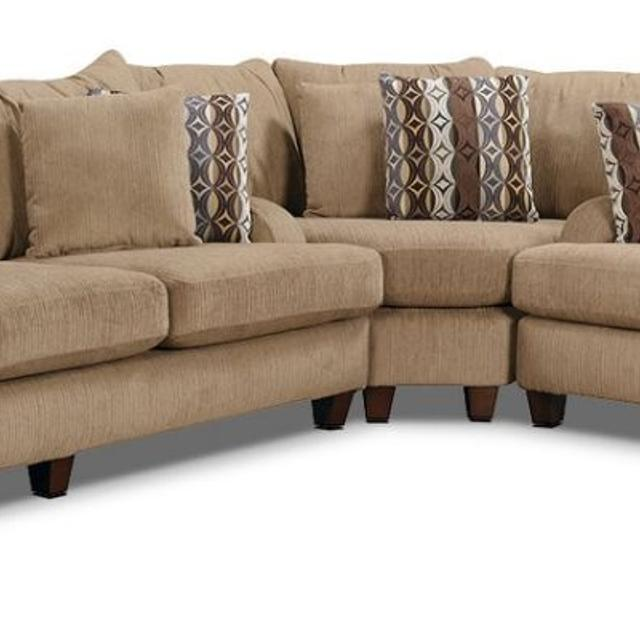 Find more Putty Chenille Sectional Sofa Cones In 3 Pieces. This Is .