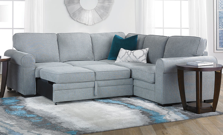 Abigale Sleeper Sectionals in 2020 | Sectional sleeper sofa .