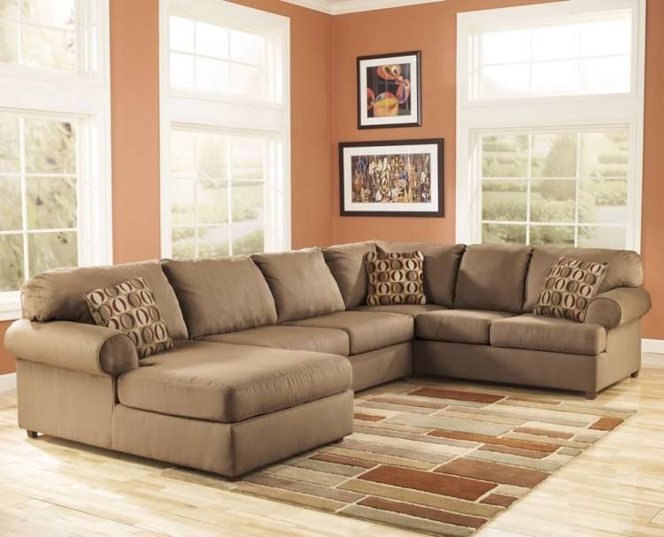 Mocha Sofa Decorating Ideas | Small sectional sofa, Sectional sofa .