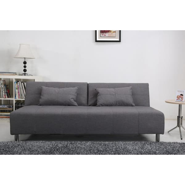 Shop Atlanta Light Grey Convertible Sectional Sofa Bed - Overstock .