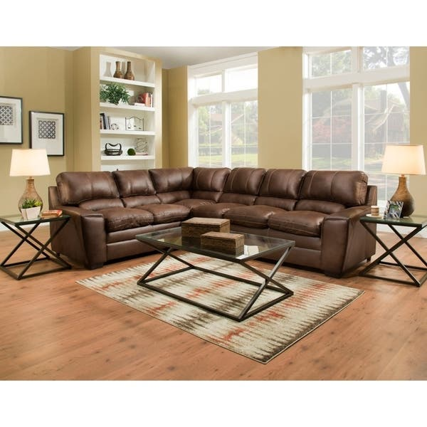 Shop Simmons Upholstery Atlanta Sectional Sofa - Overstock - 224383