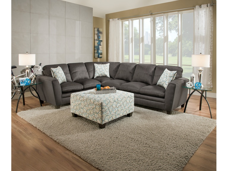 Simmons Upholstery & Casegoods Living Room 8165-Sectional .