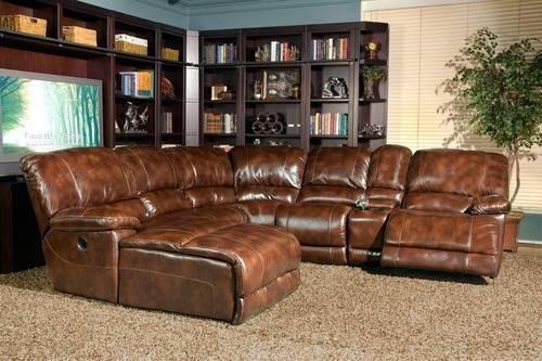 THOMASVILLE POWER MOTION SECTIONAL SOFA 100% LEATHER for Sale in .