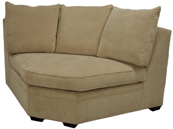 Byron Sectional Sofa Curved Corner Wedge - Carolina Chair North .