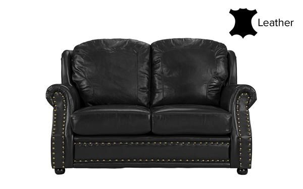 Savannah Classic Executive Style Leather Match Loveseat | Love .