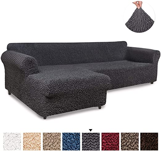 Amazon.com: Sectional Sofa Cover - Sectional Couch Covers - L .