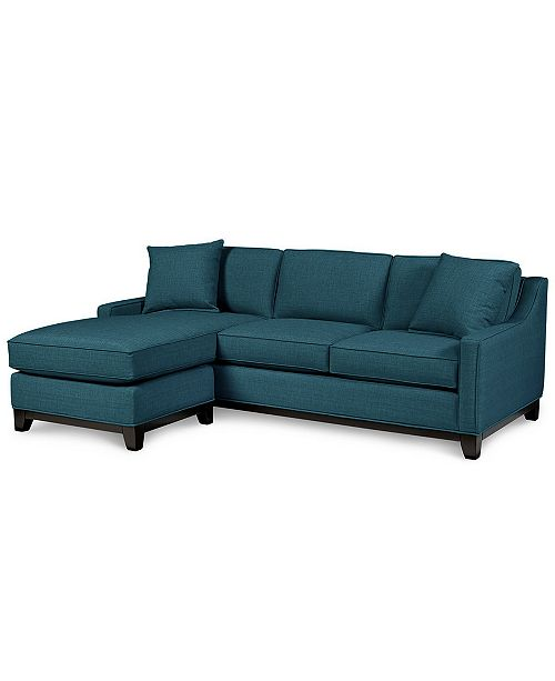 """Furniture Keegan 90"""" 2-Piece Fabric Reversible Chaise Sectional ."""