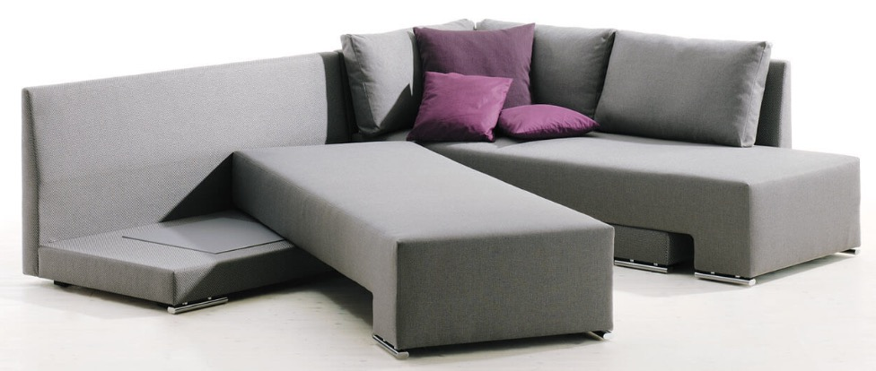 Modern Sectional Sofa That Transforms to B