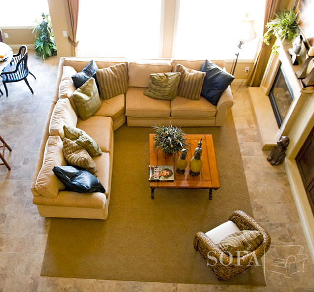 How To Place A Rug Under A Sectional Sofa | Interior Desi