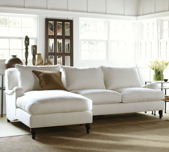 Carlisle Upholstered Sofa Chaise Sectional | Pottery Ba