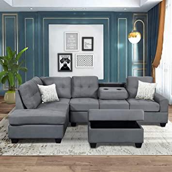 Amazon.com: Merax Sectional Sofas 3-Seat Sofa Sectional Sofa .