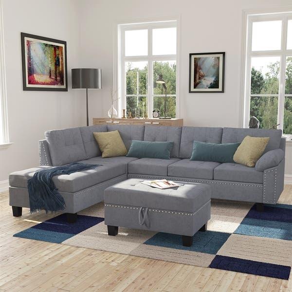 Shop Copper Grove Lonan 3-piece Sectional Sofa Set with L-shaped .