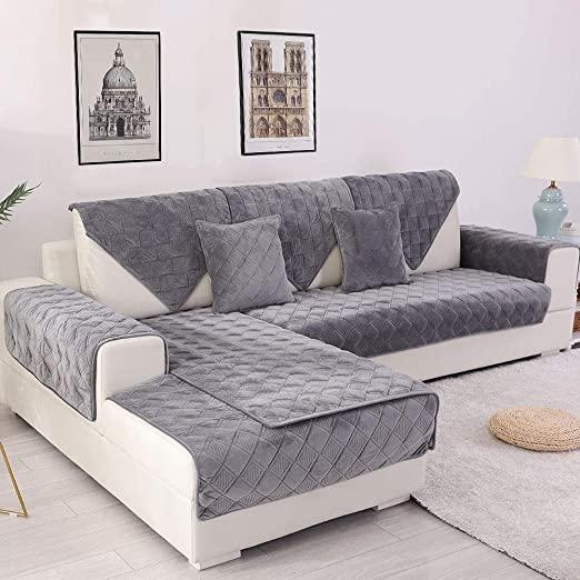 Amazon.com: Deep Dream Sectional Sofa Covers, Velvet Sofa .