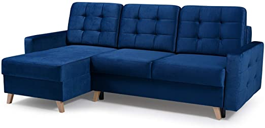 Amazon.com: Vegas Futon Sectional Sofa Bed, Queen Sleeper with .
