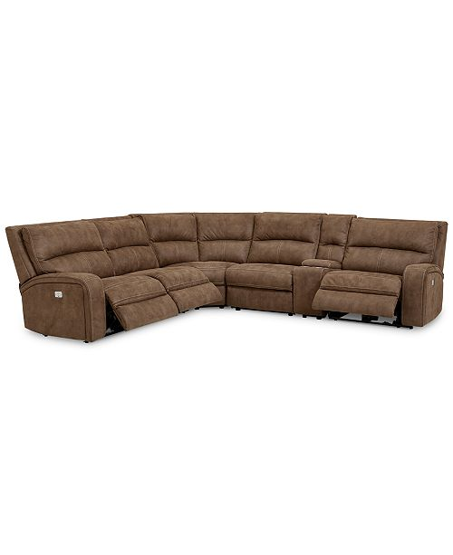 Furniture LIMITED AVAILABILITY Brant 6-Pc. Fabric Sectional Sofa .