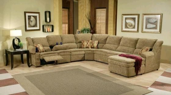 Leather Sectional Sofas with Recliners and Chaise | Sectional sofa .