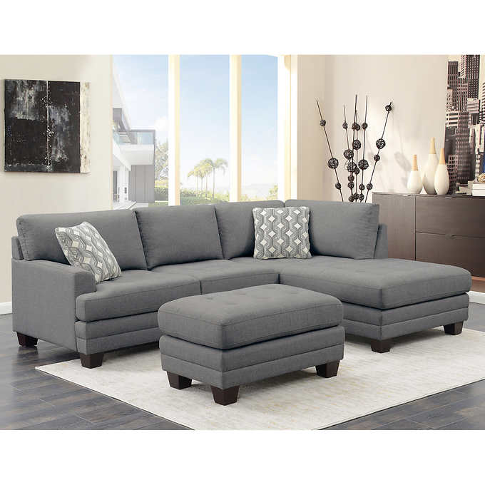 Mitch Fabric Sectional with Ottom