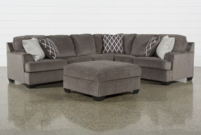 Devonwood 3 Piece Sectional with Left Arm Facing Loveseat and .