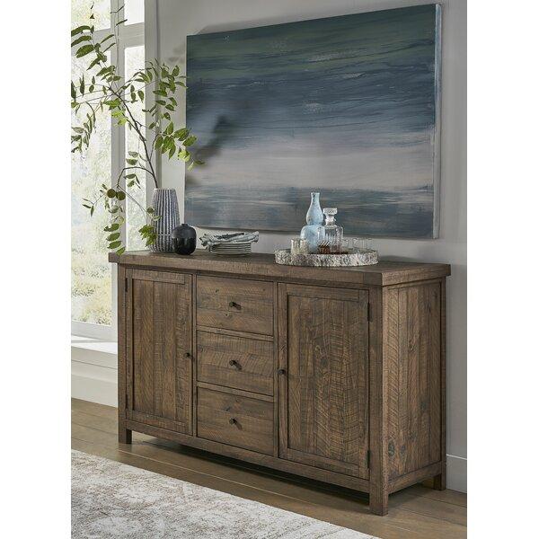 Gracie Oaks Bertans 67'' Wide 2 Drawer Acacia Wood Sideboard .