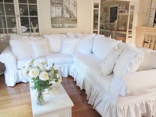 Custom Slipcover - Sectional - 2 piece - 11 Cushion | Chic sofa .