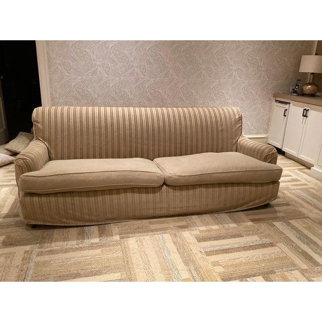 1980s Vintage Rachel Ashwell Slipcovered Shabby Chic Sofa / 2 .